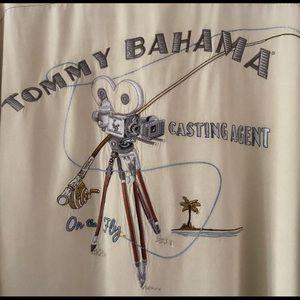 Tommy Bahama Embroidered 100 % Silk Hawaiian XXL